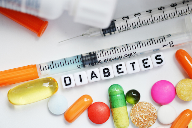 Syringe and medical drugs for diabetes, metabolic disease treatment